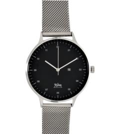 Tyno classic zilver zwart 201-002 mesh