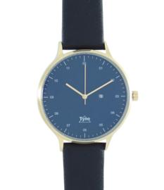 Tyno classic Rosé goud blauw 201-006 zwart