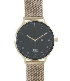 Tyno classic Rosé goud zwart 201-005 mesh