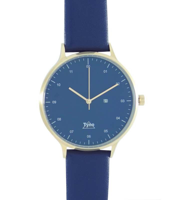Tyno classic Rosé goud blauw 201-006 blauw