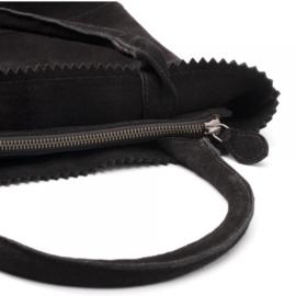 Zebratrends suede kartel bag zwart