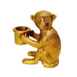 Kandelaar aap goudkleurig