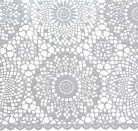 Tafelkleed brocante kant kunststof soepelvallend wit 150 x 264 cm