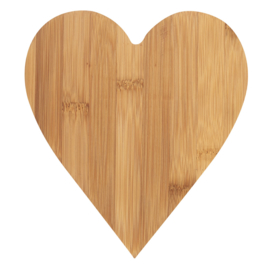 Rader bamboe snijplank hart