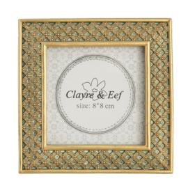Fotolijstje Clayre & Eef binnenmaat 8 x 8 cm