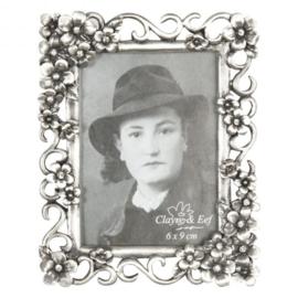 Zilverkleurig fotolijstje Clayre & Eef