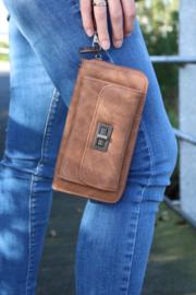 Portemonnee met mobielvak bruin