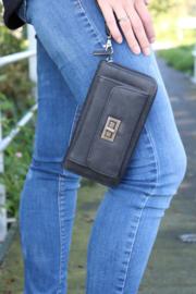 Portemonnee met voorvak voor mobiel Zwart