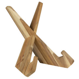Rader houten kookboek standaard