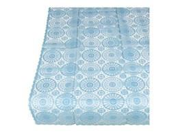 Tafelkleed brocante kant kunststof soepelvallend lichtblauw 137 x 180 cm