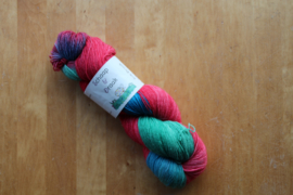 Sok Draak - KoraalRood/Groen/Turquoise