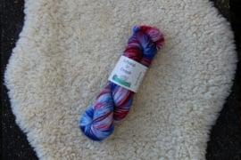 Sok Draak - Blauw en Rood op wit