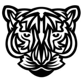 Muursticker GEO TIGER