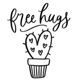 Muursticker FREE HUGS
