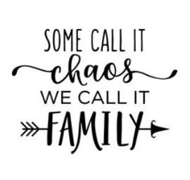 Muursticker SOME CALL IT CHAOS WE CALL IT FAMILY