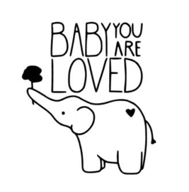 Muursticker BABY YOU ARE LOVED