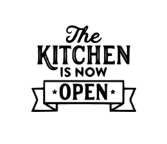 The kitchen is now open sticker speelgoed keukentje