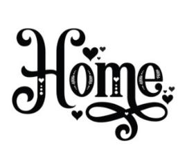 Muursticker HOME