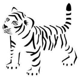 Muursticker BABY TIGER