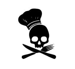 Skelet kok sticker speelgoed keukentje