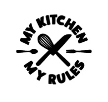 My kitchen my rules sticker speelgoed keukentje