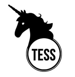 Naam sticker met unicorn