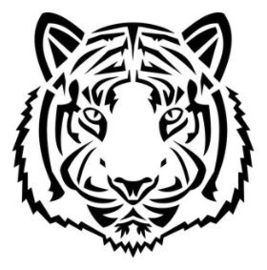 Muursticker TIGER