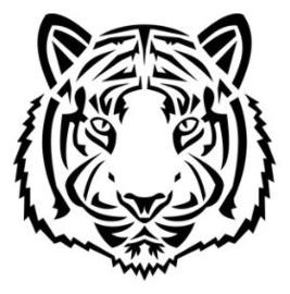 Muursticker TIGER