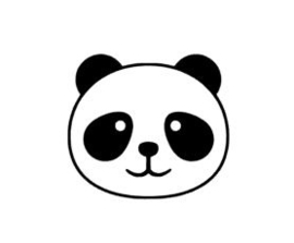 Muursticker HAPPY PANDA