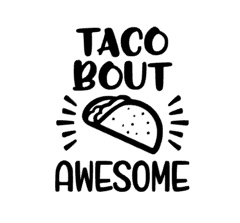 Taco about awesome sticker speelgoed keukentje
