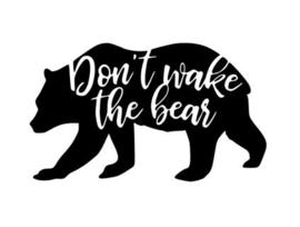 Muursticker DON'T WAKE THE BEAR