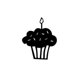 Cupcake sticker speelgoed keukentje