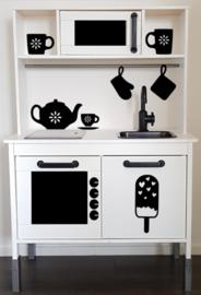Ijslolly sticker speelgoed keukentje