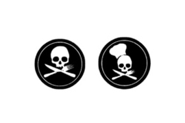 Skelet sticker set speelgoed keukentje