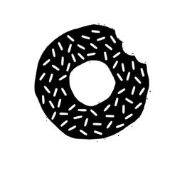 Donut sticker speelgoed keukentje