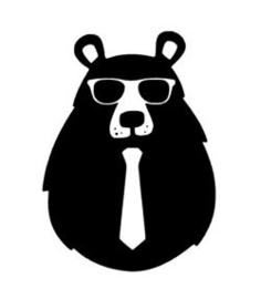 Muursticker COOL BEAR