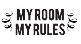 Muursticker MY ROOM MY RULES
