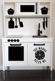Keukengerei sticker set  speelgoed keukentje