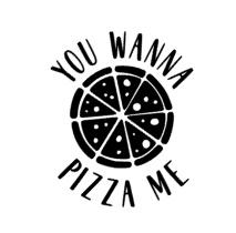 You wanna pizza me sticker speelgoed keukentje