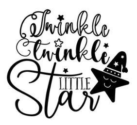 Muursticker TWINKLE TWINKLE LITTLE STAR