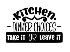 Muursticker KITCHEN DINNER CHOICES