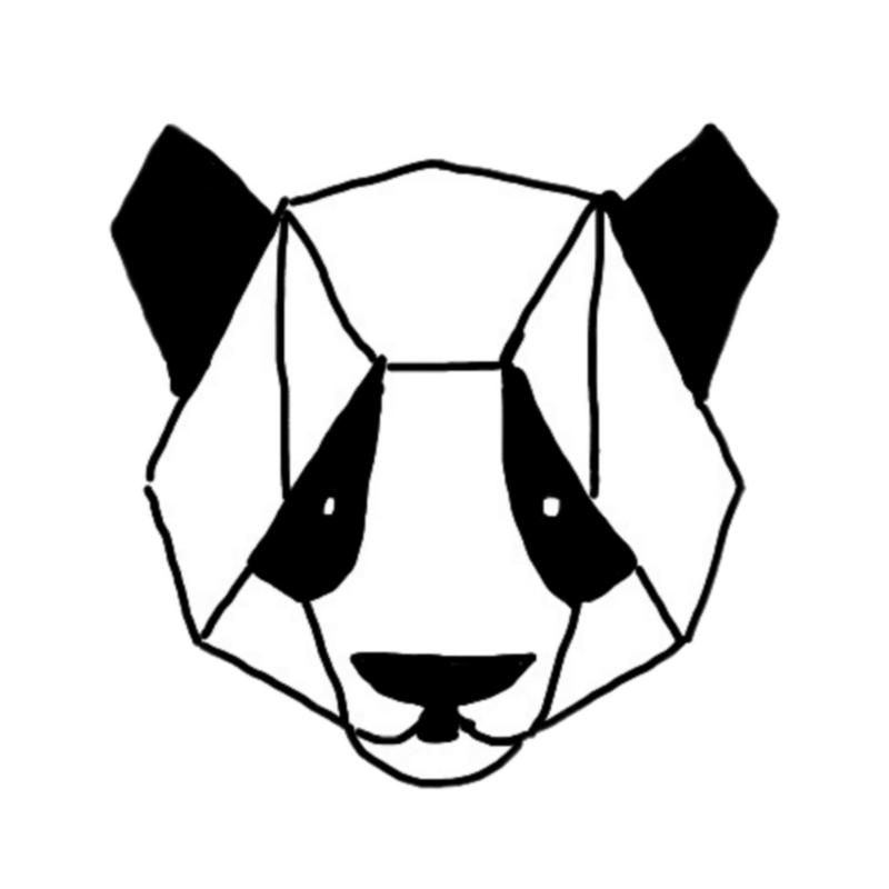 Muursticker GEO PANDA