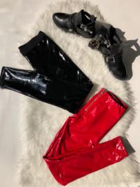 Vinyl legging red