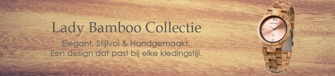 Lady Bamboo Collectie houten horloges vrouwen
