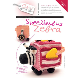 Speelkubus Zebra