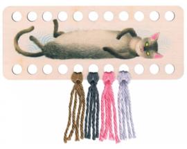 Garenhouder langwerpig met kat