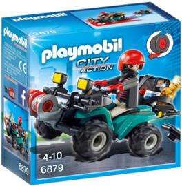 Playmobil 6879 - Boef op quad met lier