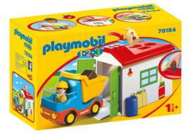 1.2.3. Playmobil 70184 - Werkman met sorteer-garage