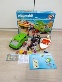 Playmobil 4144 - Familie auto met boot