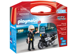 Playmobil 5648 - Meeneemkoffer Politiemotor